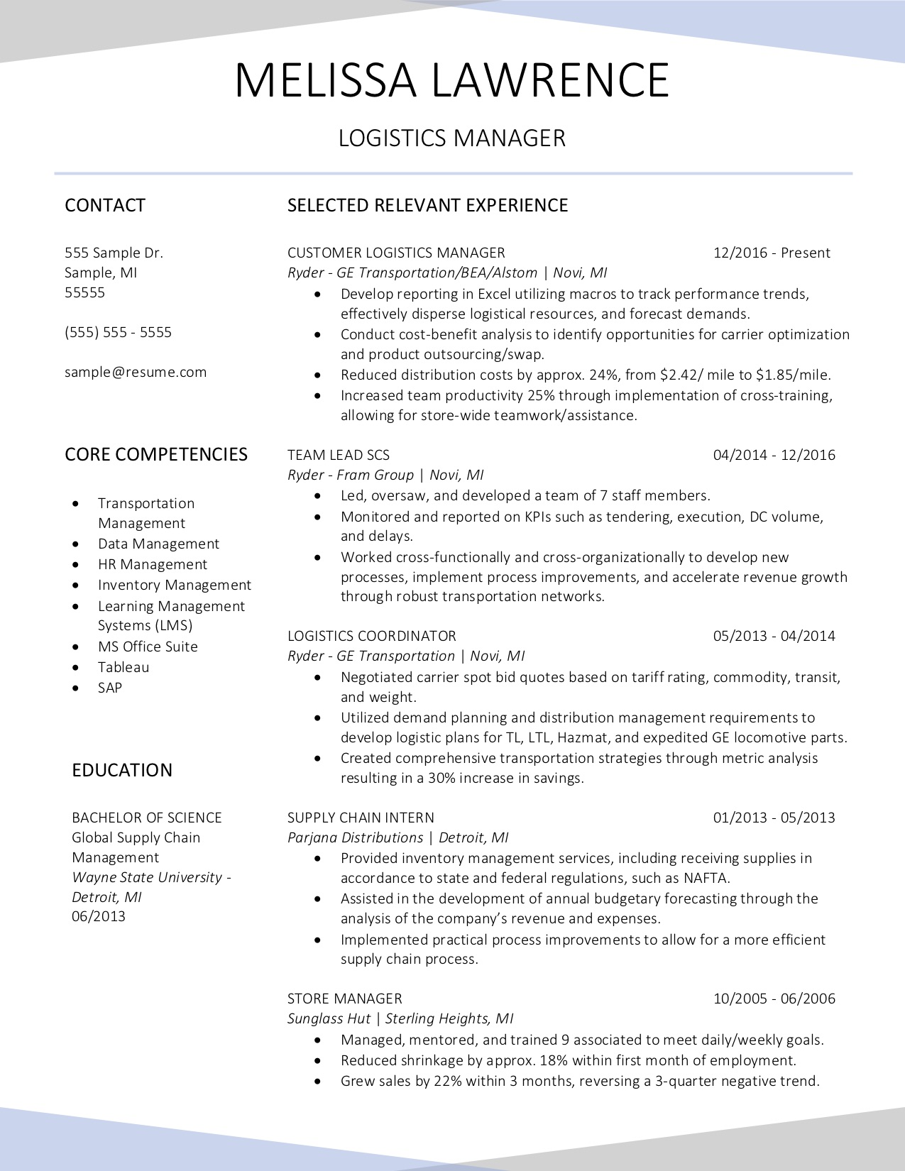 Resume Ge Samples Layfield Resume Consulting
