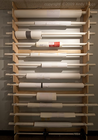 moab paper storing rolls in your studio