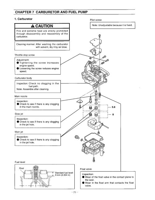 small resolution of a page from an owner s manual on how to adjust a carburetor while specific to
