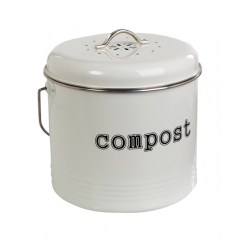 Kitchen Compost Container Cabinets Refinishing White Bin 5l Exposure Home