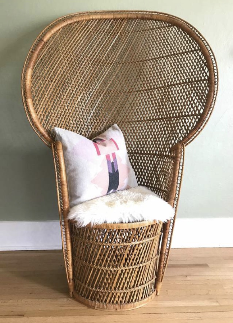 rattan peacock chair folding cover rentals the attic