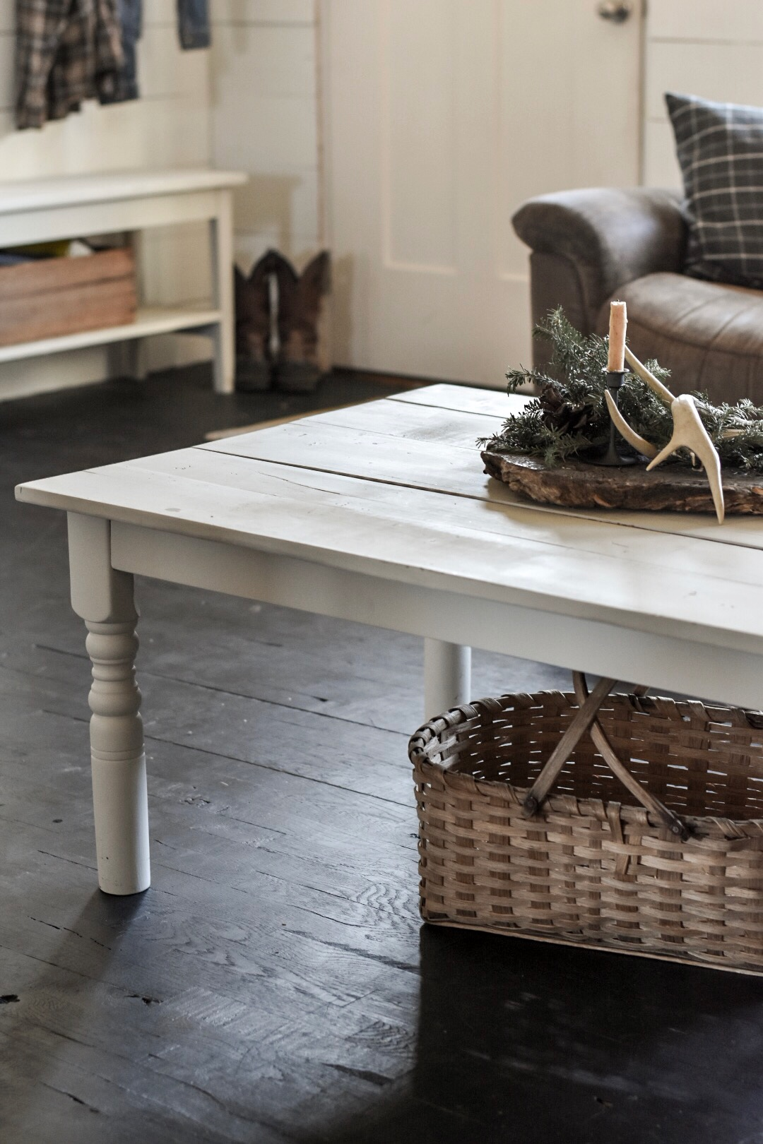 kitchen tables & more pantry farmhouse table turned coffee rocky hedge cut down to make a