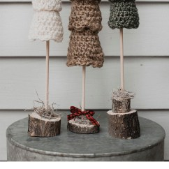 Crochet Christmas Chair Covers Medicine Ball Target Free Pattern For The Rustic Tree Set Megmade With Love