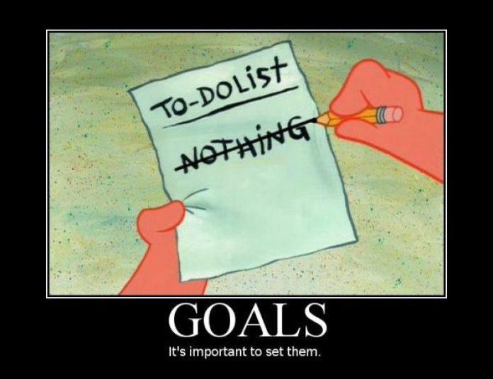 Image result for setting goals funny