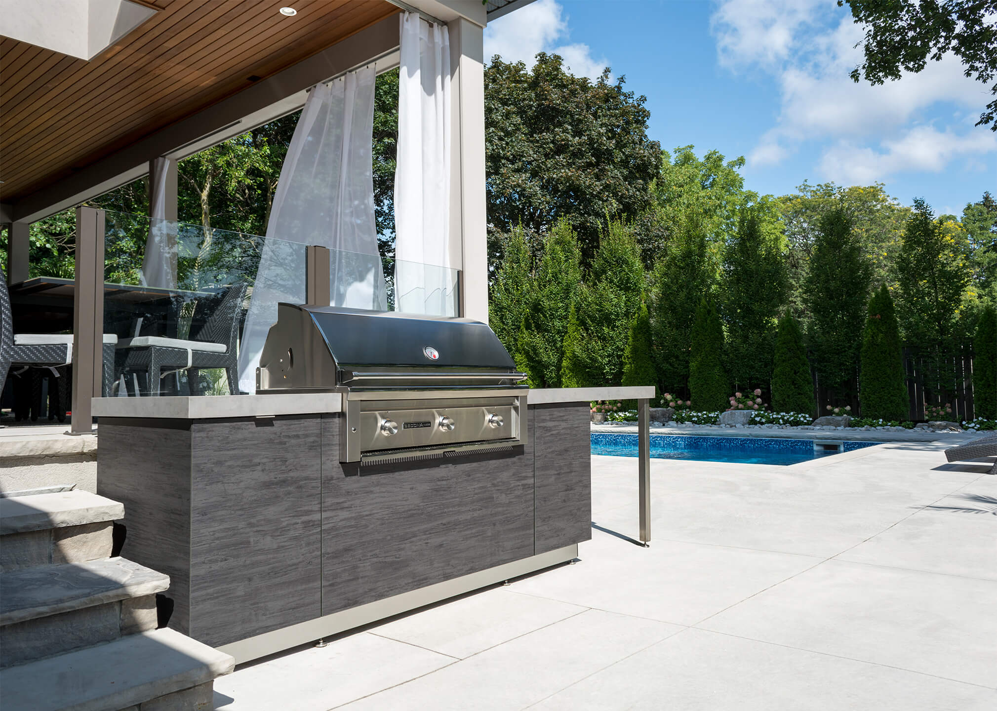 outdoor kitchens cost of kitchen renovation by garden living poolside