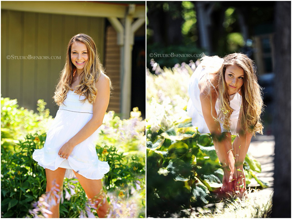 Senior Picture Ideas for Girls  Floral Crown  Boho Dress