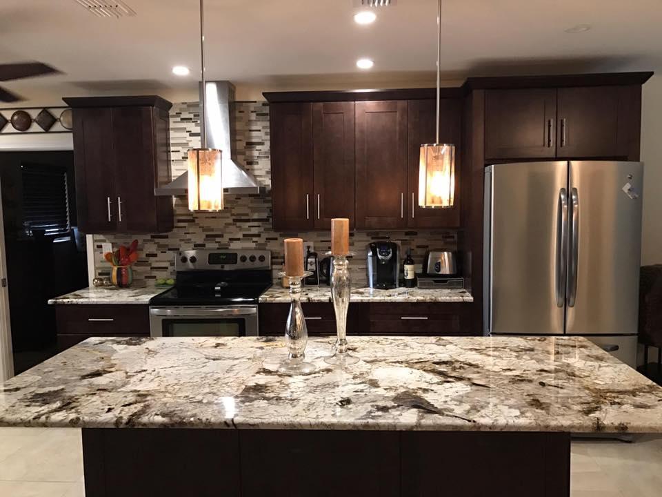 espresso shaker kitchen cabinets yellow and red curtains copenhagen granite — sobe stone