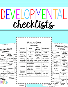 Early childhood developmental checklists for parents preschool teachers and caregivers also milestones checklist  lovely commotion rh lovelycommotion