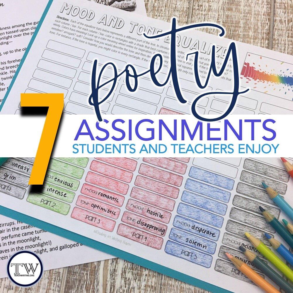 7 Poetry Activities Students Love — TeachWriting.org [ 1000 x 1000 Pixel ]