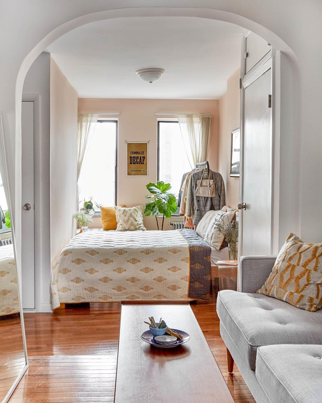 apartment therapy living room curtains indian style when paints your bedroom pink 5thfloorwalkup com studio featured in