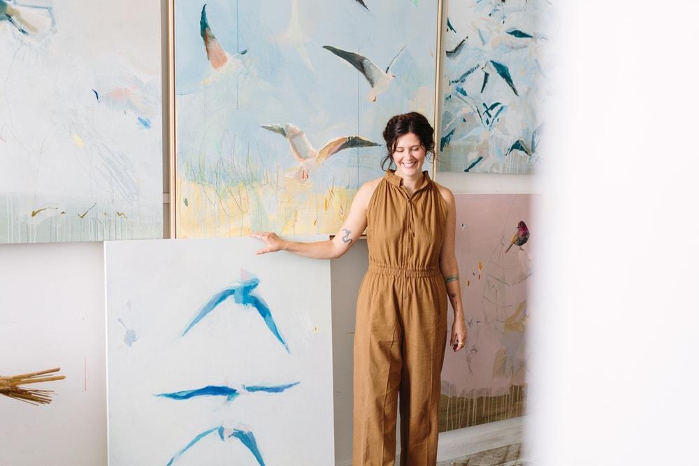 Artist Raven Roxanne + Seashore Birds