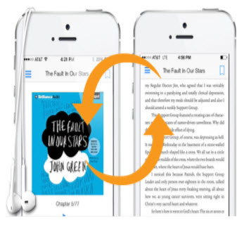 Switch between reading & listening to Kindle books