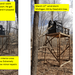 High Chair Deer Stand Gaming Ps4 Stands Extreme Weather Hughes Products This Is A Testimony Of How Customer Who Purchased Box Blind Was