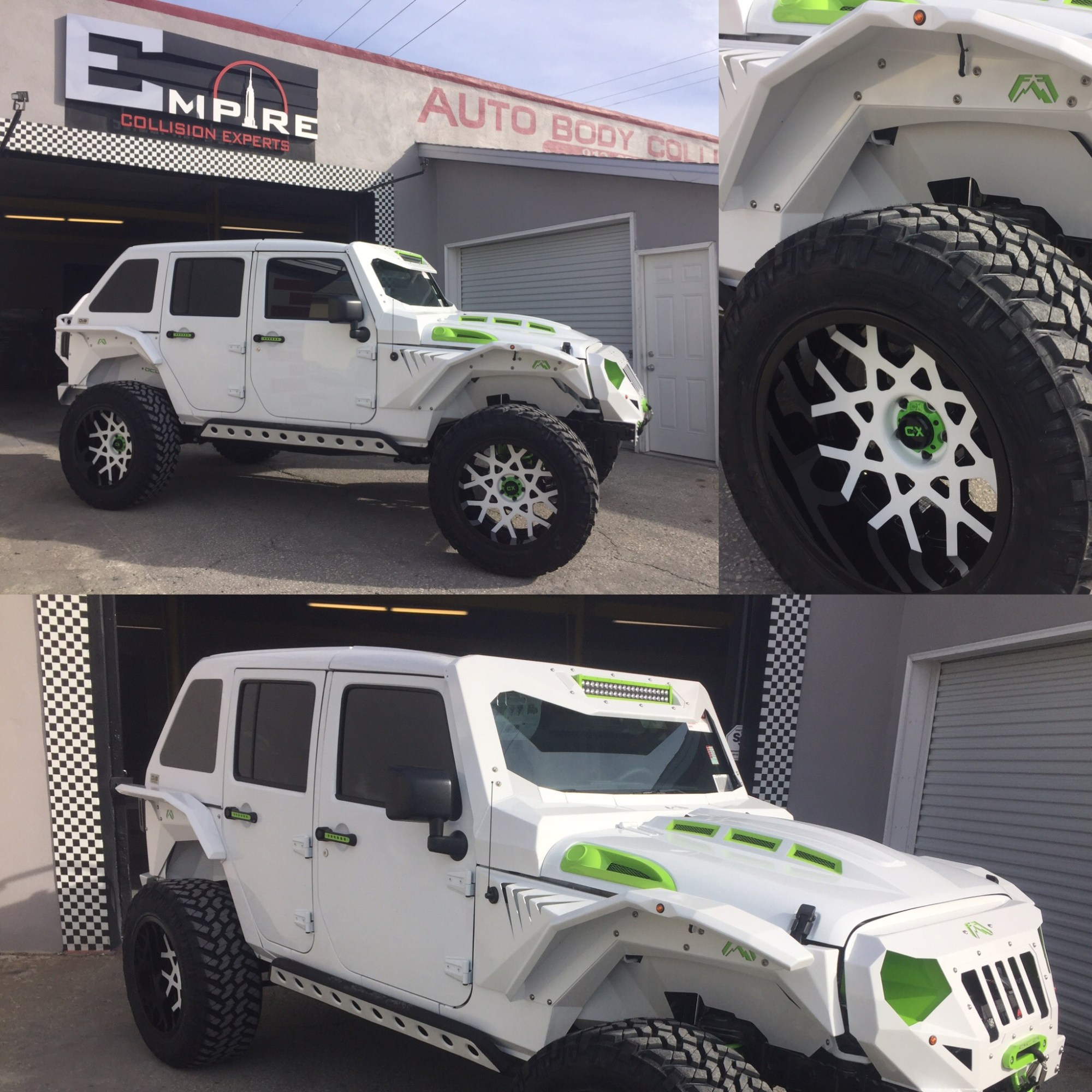 hight resolution of white custom jeep wrangler 3