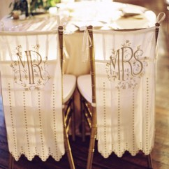 Wedding Chair Covers For Bride And Groom Crate Barrel Milo Signs Trendy Fine Art
