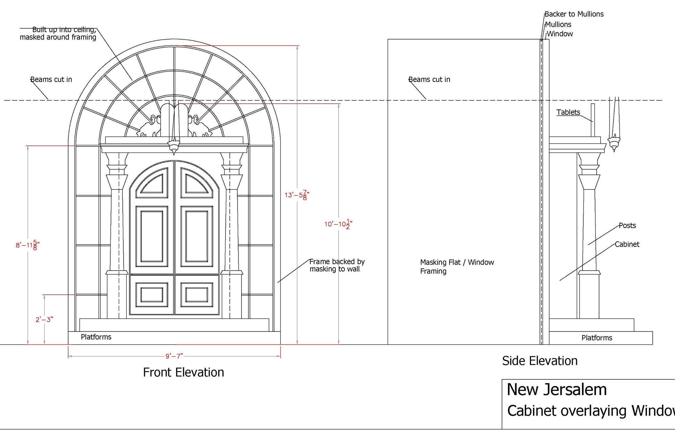 new jerusalem diagram ford mondeo mk3 radio wiring sarah tanner design cabinet window side elevation 5 in scale jpg