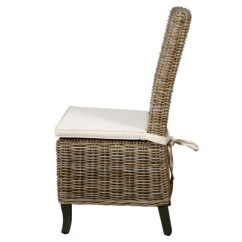 Gray Rattan Dining Chairs Sewing Patterns For Patio Chair Cushions Bermuda In Kabu Beachcomber Home Leisure