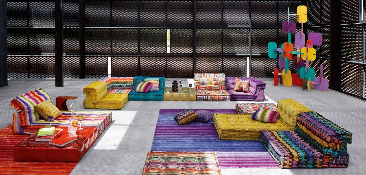 sofa mah jong roche bobois precio white color scheme composition matelot jean paul gaultier