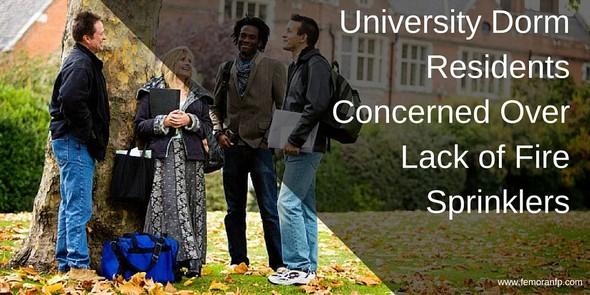 university dorm residents concerned