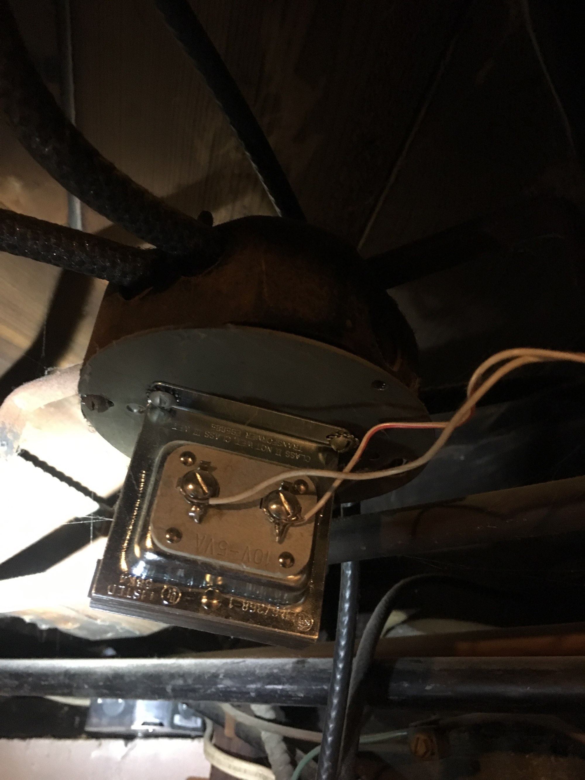 hight resolution of existing low voltage transformer located in basement that did not provide enough power for the