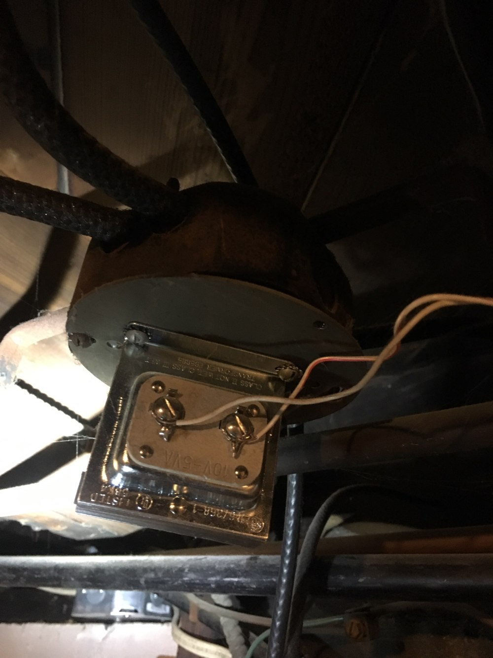 medium resolution of existing low voltage transformer located in basement that did not provide enough power for the