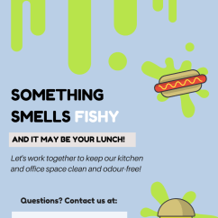 Kitchen Signs For Work Acrylic Cabinets Office Cleaning Top 7 Tips To Keep Your Something Smells Fishy Png