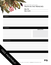 Free Printable: Inductive Bible Study Worksheets ...