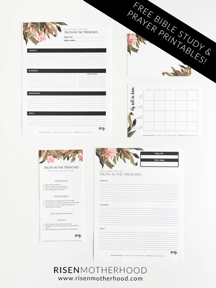 Free Printable: Inductive Bible Study Worksheets