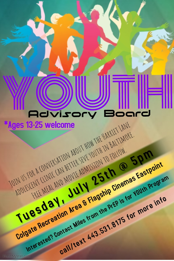 This Tuesday Youth Advisory Board Meeting! — PrEP Is For
