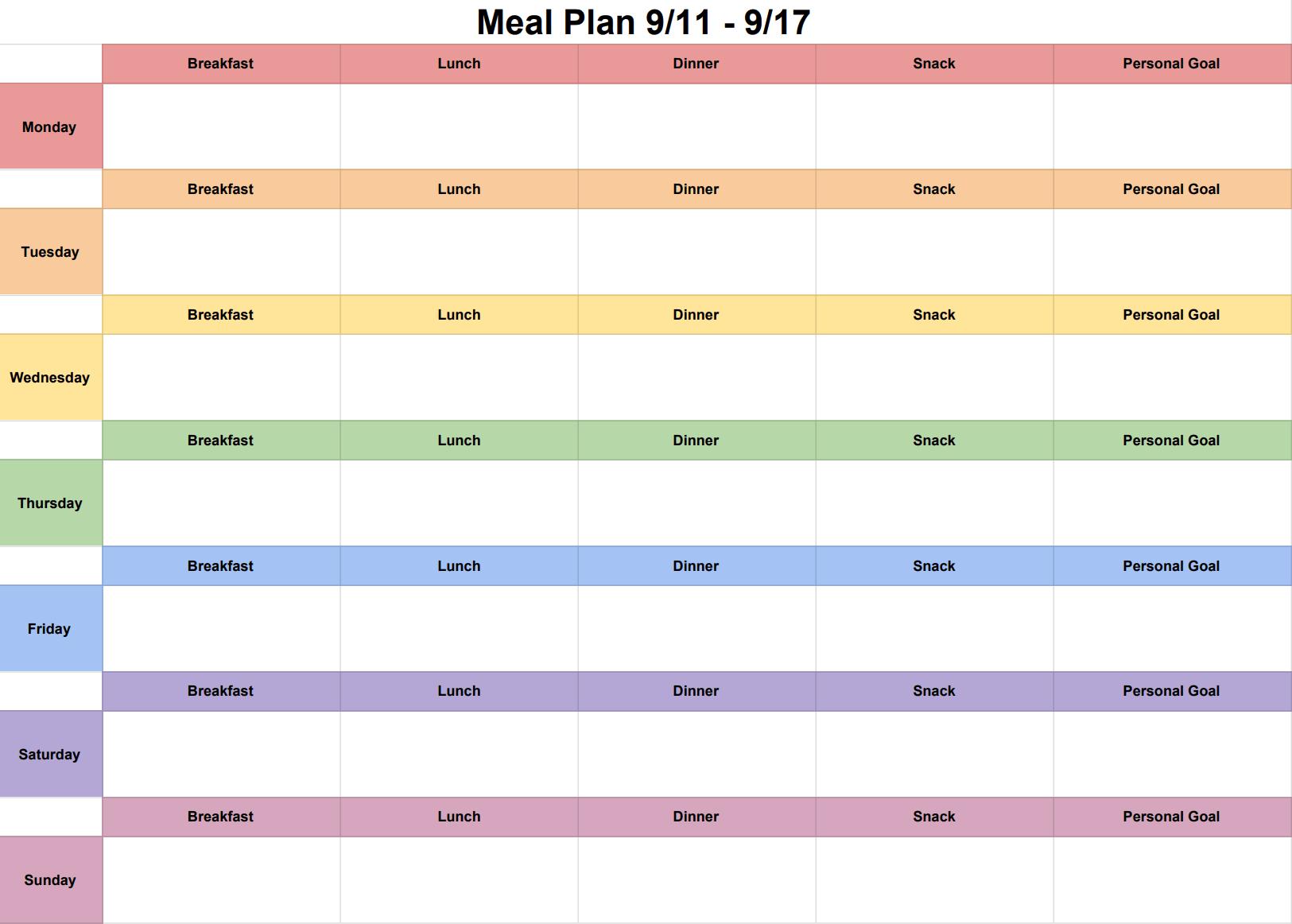 also my weekly meal plan calendar  ariellesays rh