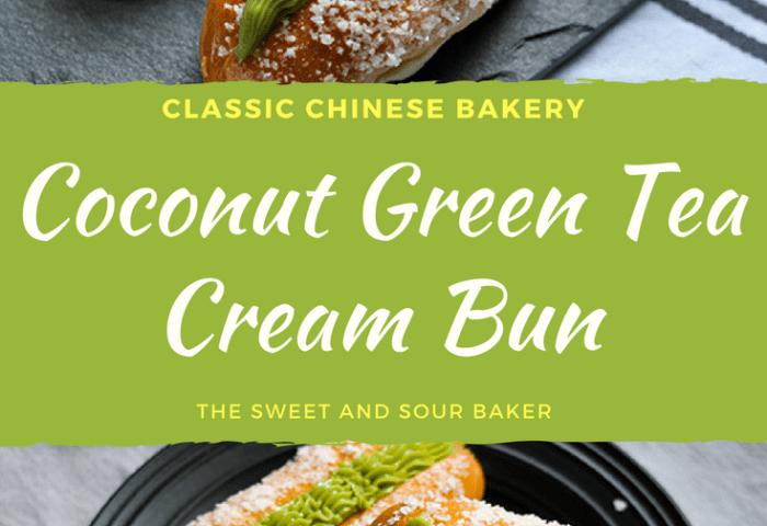 Coconut Green Tea Cream Bun The Sweet Sour Baker