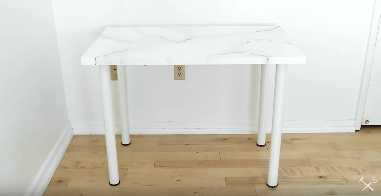 DIY FAUX MARBLE DESK TOP  The Sorry Girls