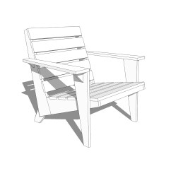 Adirondack Chair Plan Chocolate Dining Covers Diy Modern Plans Crafted Workshop Jpg