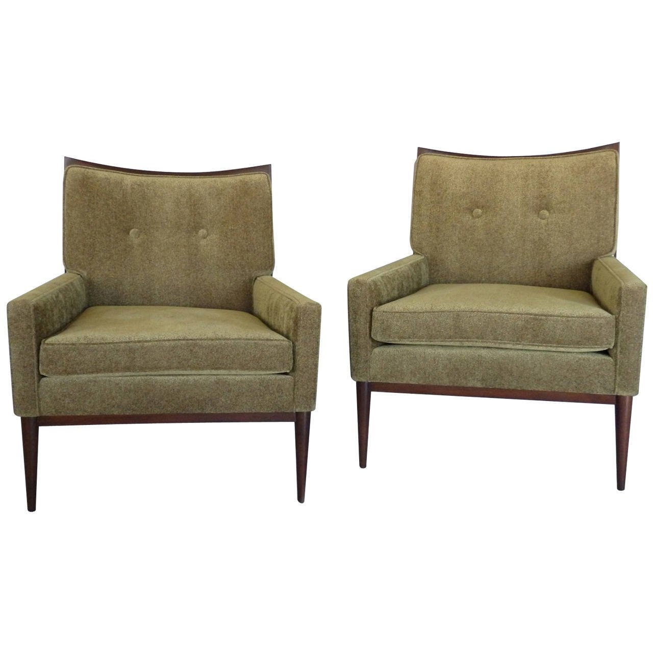 Paul Mccobb Chairs Pair Of Modernist Lounge Chairs By Paul Mccobb