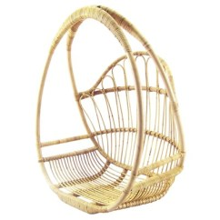 Hanging Wicker Chair Accent Black Selamat Grow
