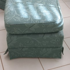 How To Make Slipcover For Wingback Chair Best Wing Back Chairs Slipcovers At Long Last The Whimsical Wife I Started With Ottomans Get My Confidence Up And Start Something Easy On First Had Some Dramas Off But After