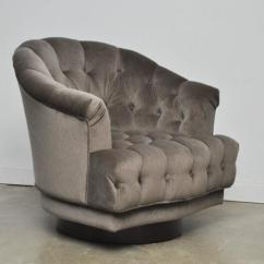 Swivel Lounge Chairs Outdoor Dunbar Tufted Edward Wormley Modern Drama
