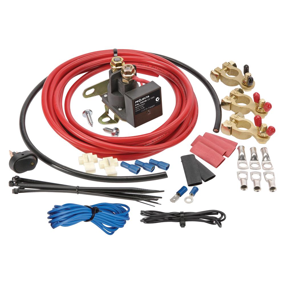 hight resolution of 12v 100a voltage sensitive relay kit