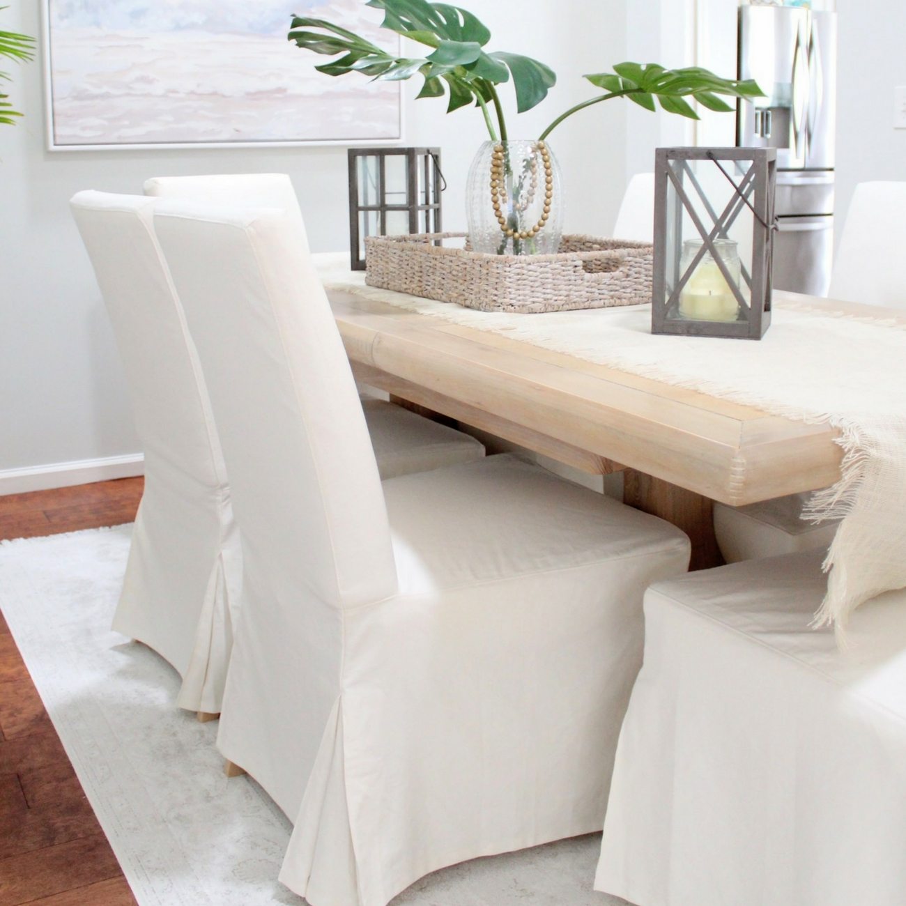 Dining Chair Slipcover Why I Love My White Slipcovered Dining Chairs House Full Of
