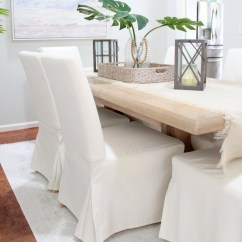 Dining Chair Slipcover Cover Rental Columbus Ohio Why I Love My White Slipcovered Chairs House Full Of Summer