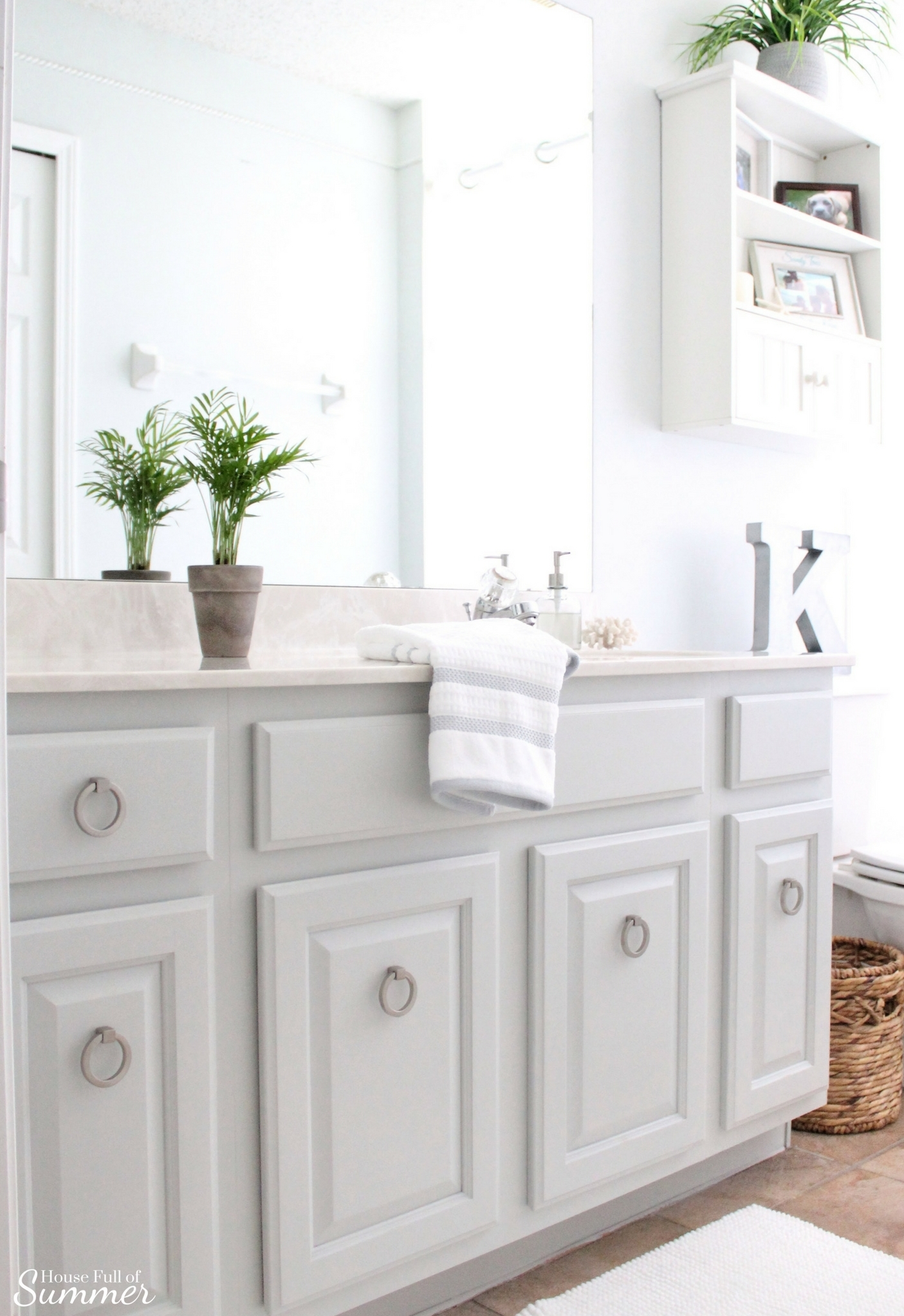 Painted Bathroom Cabinets Easy Bathroom Cabinet Transformation House Full Of Summer