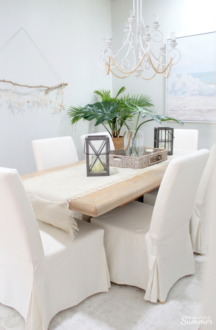 dining chairs slipcovers antique telephone chair why i love my white slipcovered house full of summer these