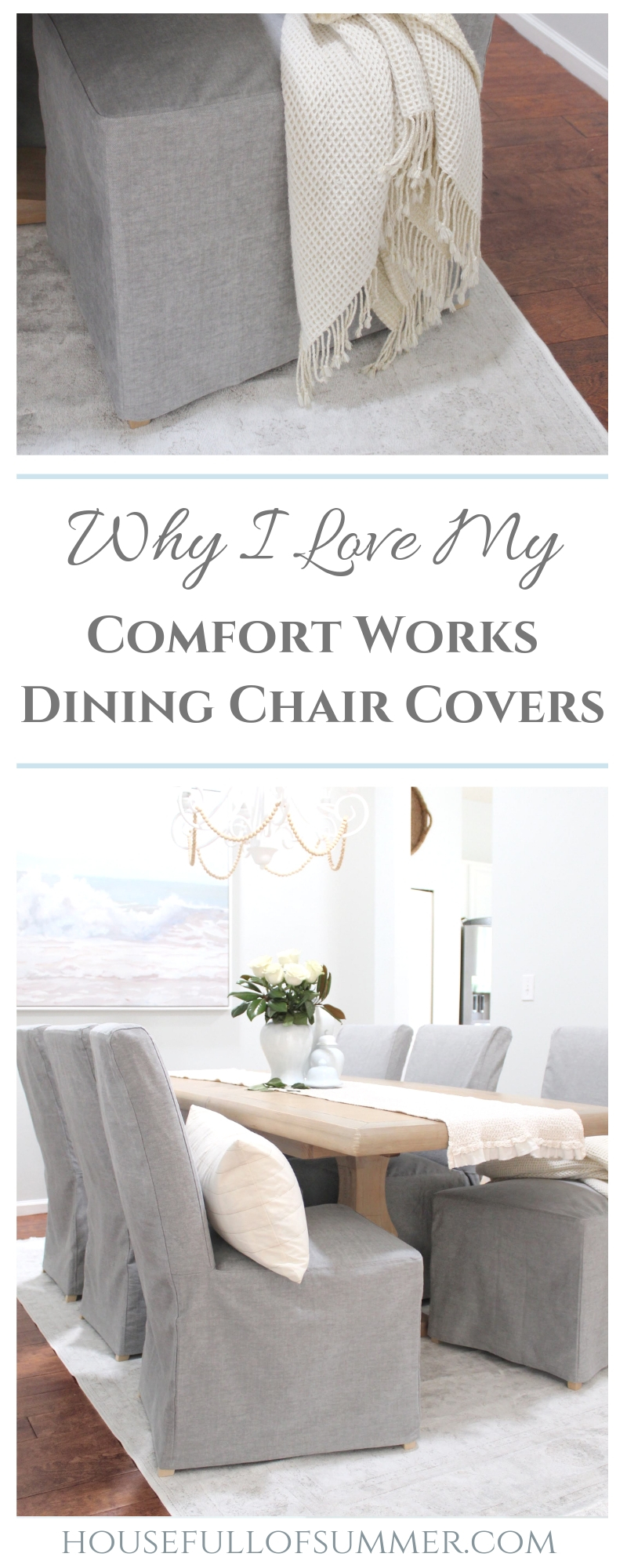 Slip Covers For Chairs Why I Love My Comfort Works Dining Chair Covers House Full Of