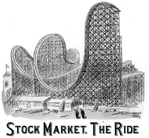 stock market rollercoaster ride