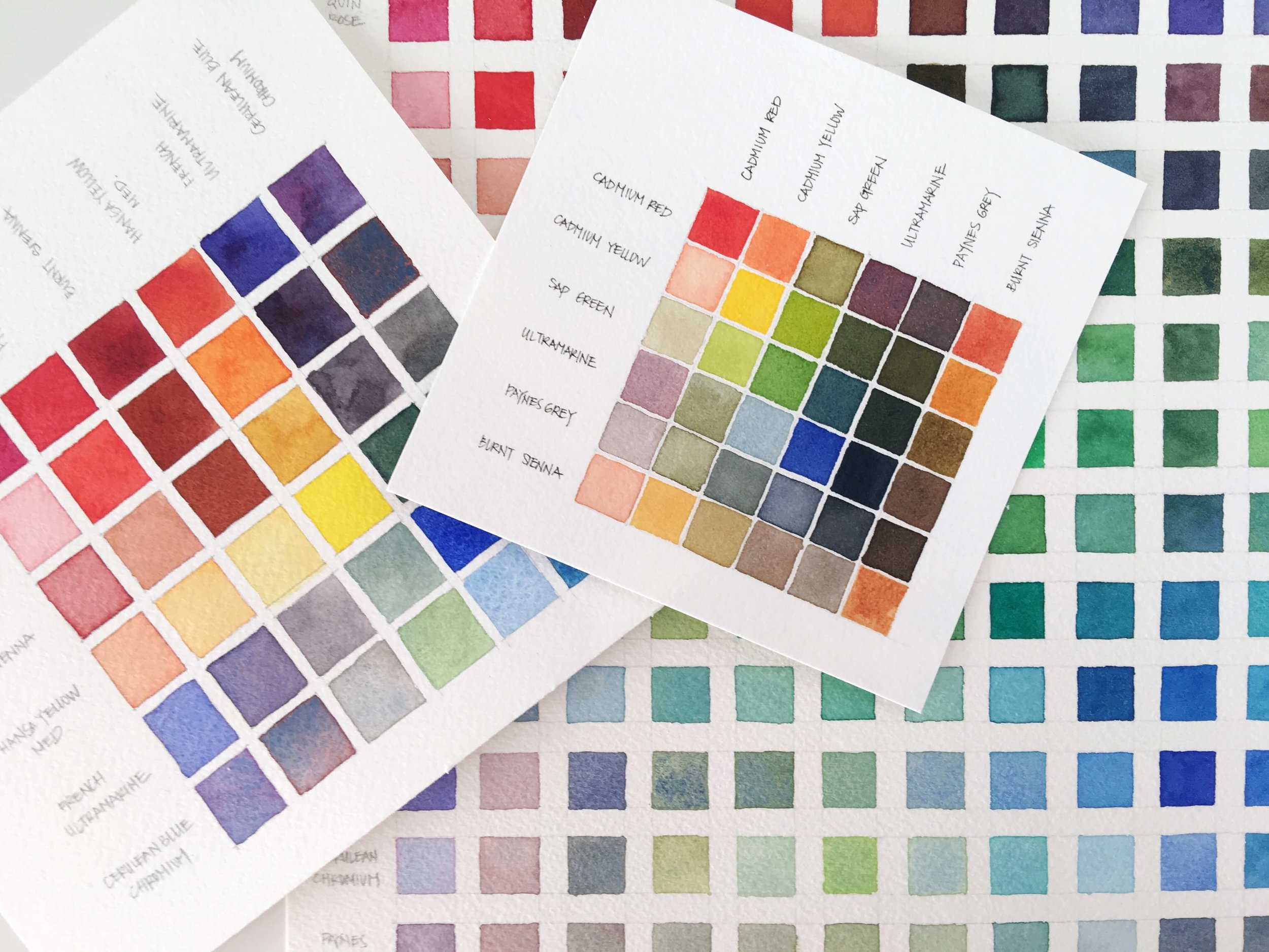 Watercolor color mixing charts also types of type chart rae lily rh raeandlily