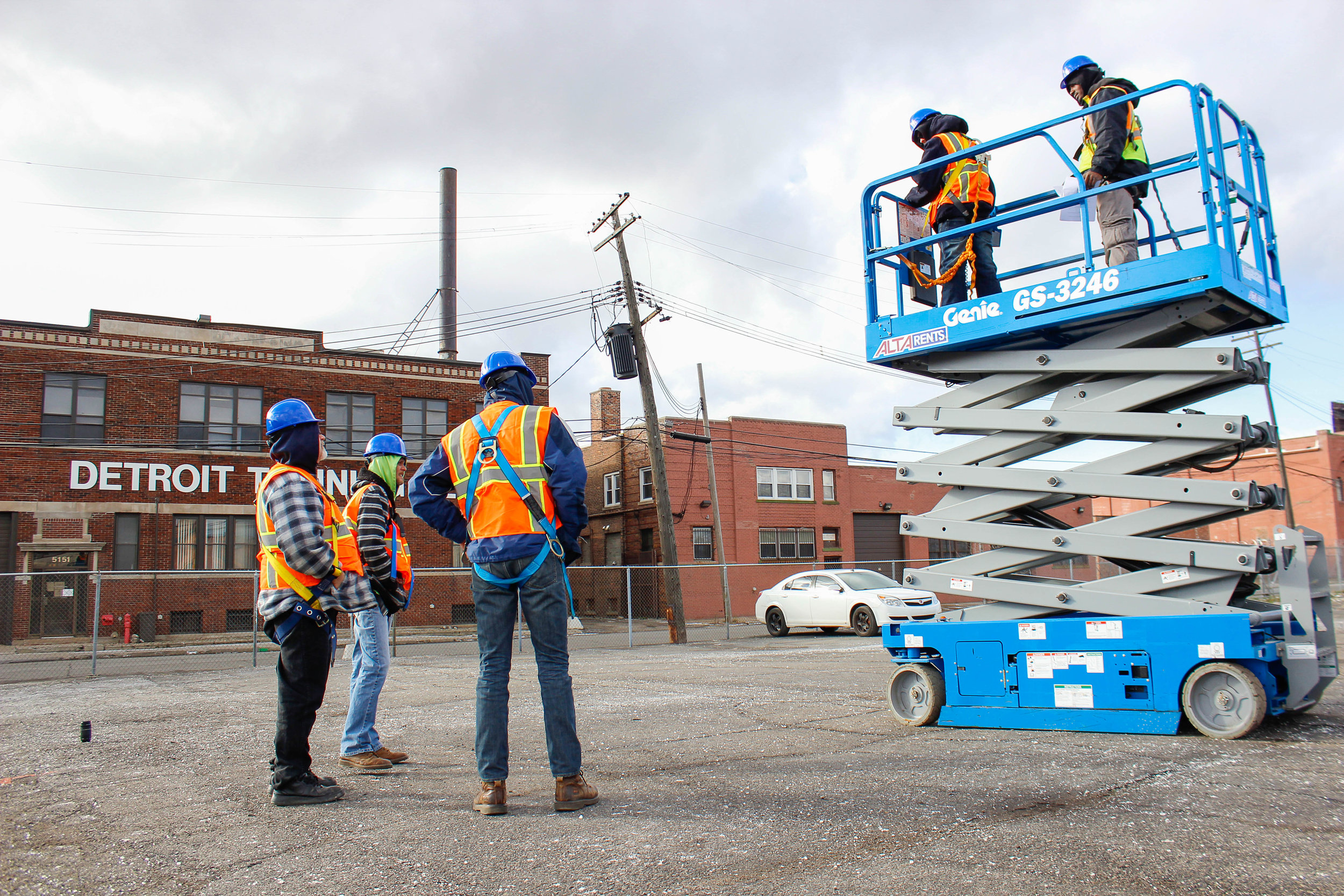 hight resolution of aerial lift training course