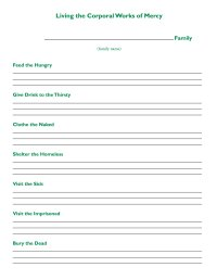 Free Printable Corporal and Spiritual Works Of Mercy ...