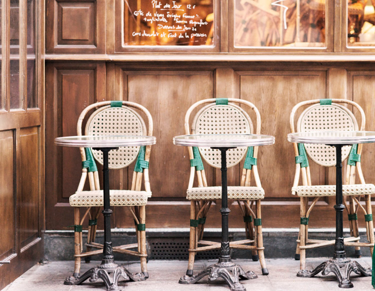 parisian cafe chairs boondocks steel chair effect tables for one paris and print moments