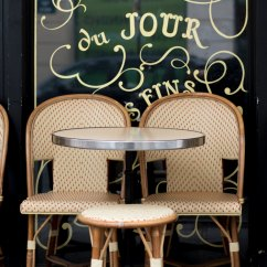 Parisian Cafe Table And Chairs Wood Desk Chair No Wheels Tarte Du Jour At Paris Print Moments