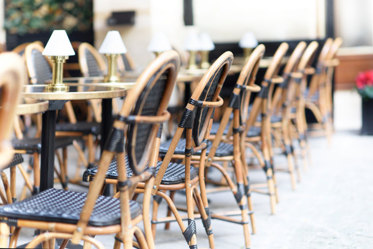 parisian cafe chairs tiger oak dining black print moments paris pictures